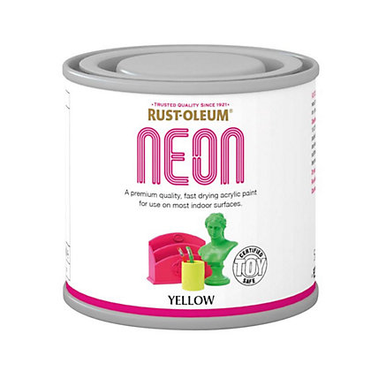 Image for Rust-Oleum Neon Yellow Paint - 125ml from StoreName