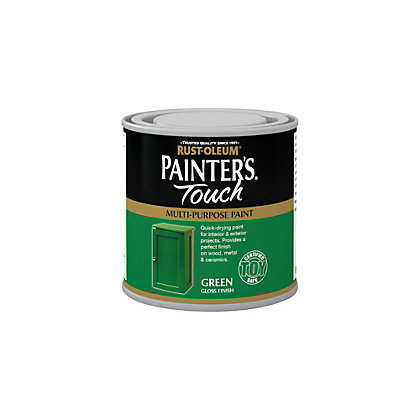 Rust oleum painter 39 s touch bright green gloss 250ml for Spray paint coverage calculator