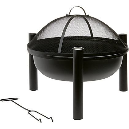 Image for La Hacienda Icarus Steel Fire Pit - Black from StoreName