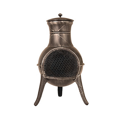 Image for La Hacienda Clifton Steel Chimenea - Black from StoreName