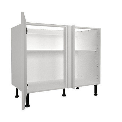 Image for Simply Hygena Chancery - Gloss White - 1000mm Highline Corner Base Unit from StoreName