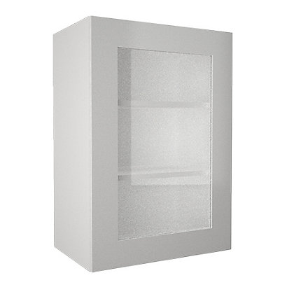 Image for Simply Hygena - Chancery Gloss - White - 500mm Glass Wall Cabinet from StoreName