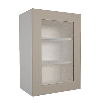 Image for Simply Hygena - Chancery Gloss - Cream - 500mm Glass Wall Cabinet from StoreName