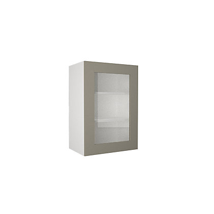 Image for Simply Hygena Amersham - Grey - 500mm Glass Wall Cabinet from StoreName