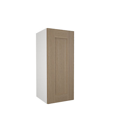 Simply hygena amersham oak shaker 300mm wall cabinet for Homebase kitchen cabinets