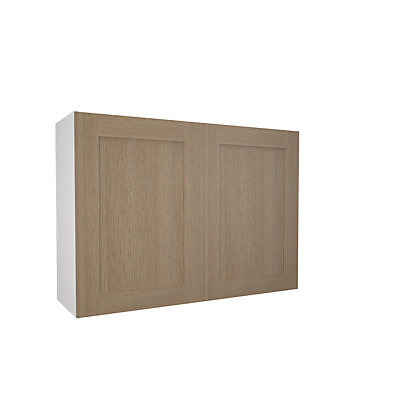 Image for Simply Hygena - Amersham - Oak Shaker - 1000mm Wall Cabinet from StoreName