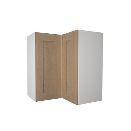 Image for Simply Hygena Amersham - Oak Shaker - 635mm Corner Wall Cabinet from StoreName