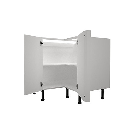 Image for Simply Hygena Elverson - Gloss White - 935mm Highline Corner Base Unit from StoreName