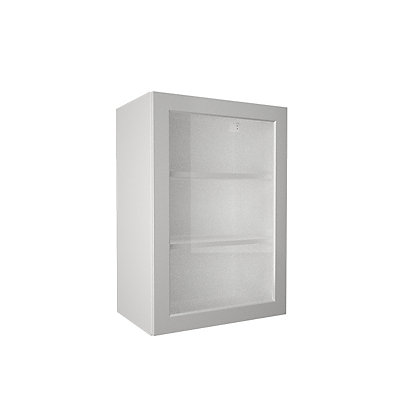 Image for Simply Hygena Elverson - Gloss White - 500mm Glass Wall Cabinet from StoreName