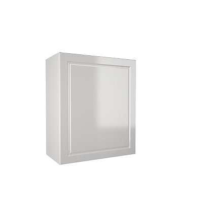 Simply hygena elverson gloss white 600mm wall cabinet for Homebase kitchen cabinets