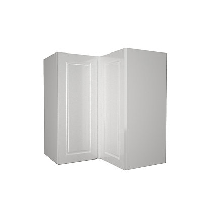 Image for Simply Hygena Elverson - Gloss White - 635mm Corner Wall Cabinet from StoreName