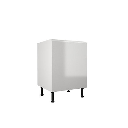 Image for Simply Hygena Kensal - Gloss White - 600mm Highline Base Unit from StoreName
