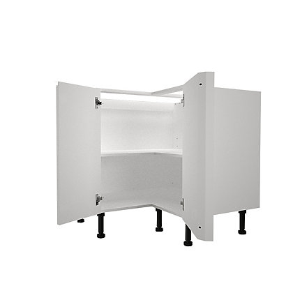 Image for Simply Hygena Kensal - Gloss White - 935mm Highline Corner Base Unit from StoreName