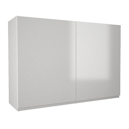 Simply hygena kensal gloss white 1000mm wall cabinet for Homebase kitchen cabinets