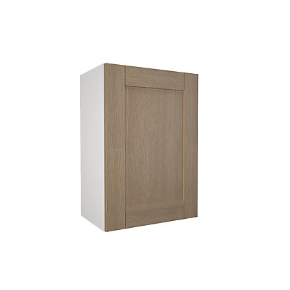 Simply hygena southfield oak 500mm wall cabinet for Homebase kitchen cabinets