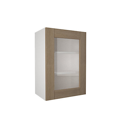 Image for Simply Hygena - Southfield - Oak - 500mm Glass Wall Cabinet from StoreName