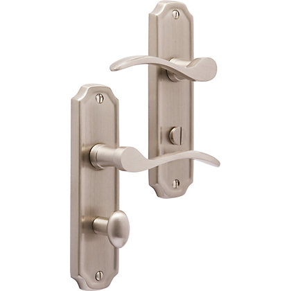 Image for Kingston Bathroom Lock - Brushed Nickel from StoreName