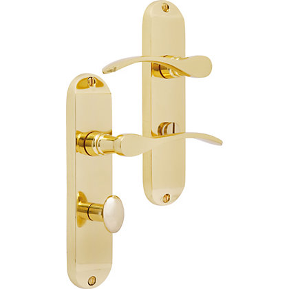Image for Helena Bathroom Lock - Polished Brass from StoreName