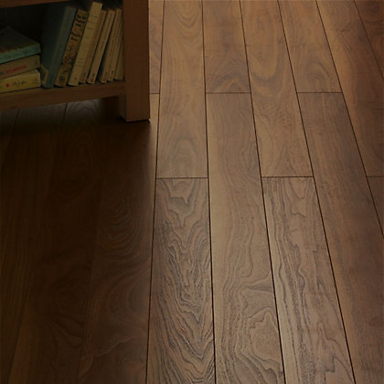 Image for Schreiber Narrow Plank Laminate Flooring Rich Walnut - 1.28 sq m from StoreName