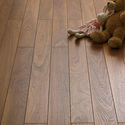 Image for Schreiber Narrow Plank Laminate Flooring Walnut - 1.28sq m per pack from StoreName