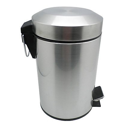 Image for 3L F-Arch Bin- Brushed Silver from StoreName