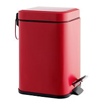 Habitat Poli Stainless Steel Bathroom Bin 3L- Raspberry Pink