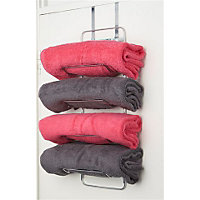 Image for hook over door towel rack chrome from storename