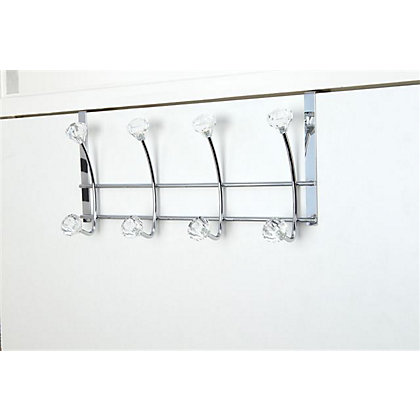 Image for Set of Four Hook-Over Hooks Jewel Chrome from StoreName