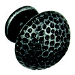 Hammered Knob - Black