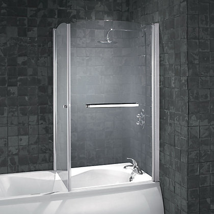 Image for Aqualux Over Bath Shower Screen - 850mm from StoreName