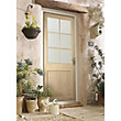 Cambridge 6 Panel Lite Clear Glazed Oak Veneer External Door - 762mm Wide