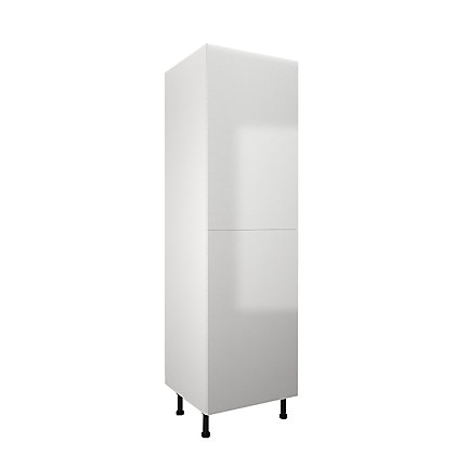 Image for Simply Hygena - Chancery Gloss - White - 600mm Larder / 50:50 Fridge Freezer Housing from StoreName