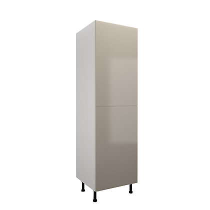 Image for Simply Hygena Chancery - Gloss Cream - 600mm Larder / 50:50 Fridge Freezer Housing from StoreName