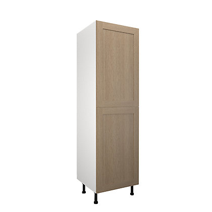 Image for Simply Hygena - Amersham - Oak Shaker - 600mm Larder / 50:50 Fridge Freezer Housing from StoreName