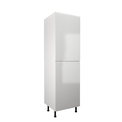 Image for Simply Hygena Kensal - Gloss White - 600mm Larder / 50:50 Fridge Freezer Housing from StoreName