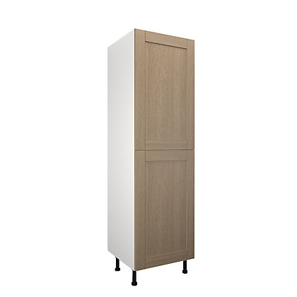 Image for Simply Hygena - Southfield - Oak - 600mm Larder / 50:50 Fridge Freezer Housing from StoreName