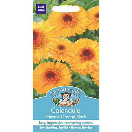 Image for Calendula Pot Marigold Princess Orange Black (Calendula Officinalis) Seeds from StoreName
