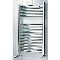 Tuscana Heated Towel Rail - 800 x 500mm - Chrome