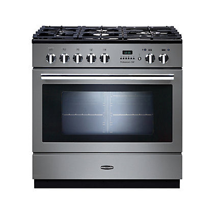 Image for Rangemaster Professional Plus FXP Dual Fuel Range Cooker - 90cm - Silver from StoreName