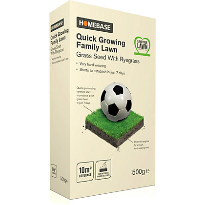 Image for Homebase Family Quick Lawn Seed - 0.5kg from StoreName