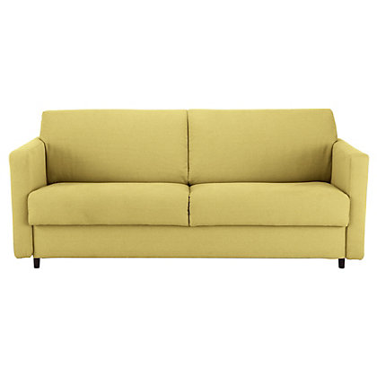 Habitat howi 3 seat sofa bed fabric yellow for Sofa bed yellow