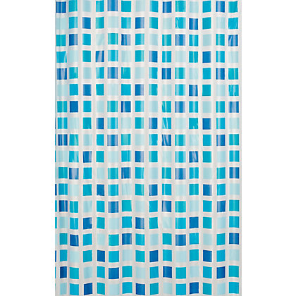 Image for Mosaic Shower Curtain - Blue from StoreName