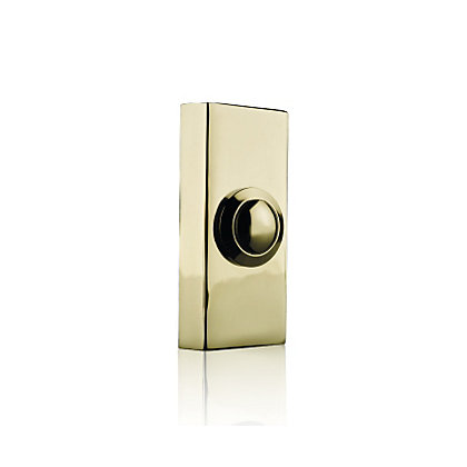 Image for Homebase 2204 Wired Brass Push Button from StoreName