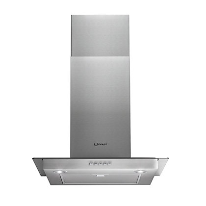 Image for Indesit Aria IHF6 Flat Glass Chimney Hood - 60cm - Silver from StoreName