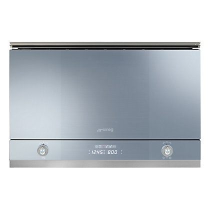 Image for Smeg MP122 Linea Microwave Oven With Grill - Silver Glass from StoreName