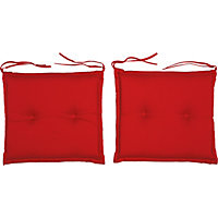 Seat Cushion - Raspberry (Pack of 2)