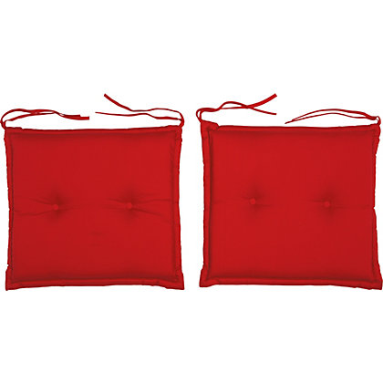 Image for Pack of 2 Garden Seat Pad Cushions - Raspberry from StoreName