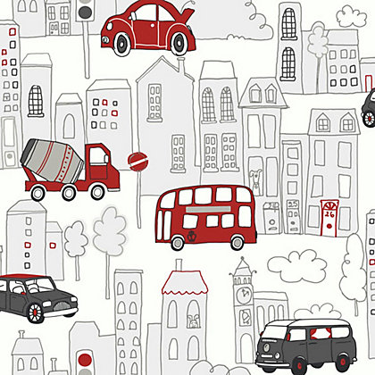Image for Arthouse Motor Mania Wallpaper - Red, Black from StoreName