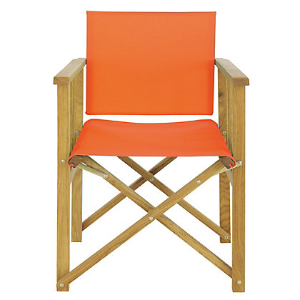Image for Habitat Africa Orange Directors Chair from StoreName