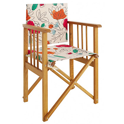 Image for Habitat Africa Floral Directors Chair from StoreName
